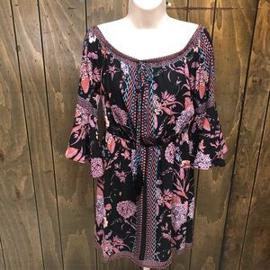 JEALOUS TOMATO off the shoulder floral dress sz M